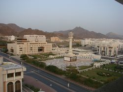 The Central Business District (CBD), in Muttrah, Muscat