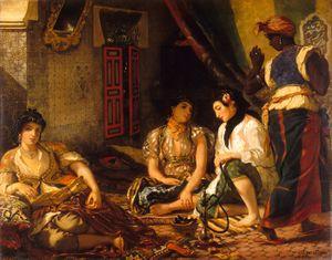 اوجين دلاكروا نساء مدينة الجزائر 1834